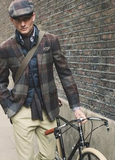 The flat cap, sometimes called a tweed cap or paddy cap or Irish cap is very attractive on both men and women.. but especially men!