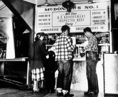 Ordering some 19-cent cheeseburgers at the very first McDonald's in 1948