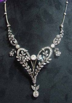 Vintage diamond necklace....would wear it everyday.....with everything...yes, I would.