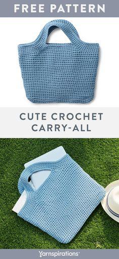 Crochet For Beginners Free Crochet Tote Pattern Purse Patterns Free, Crochet Purse Patterns, Bag Pattern Free, Handbag Patterns, Tote Pattern, Free Crochet Bag, Crochet Market Bag, Crochet Shell Stitch, Cute Crochet