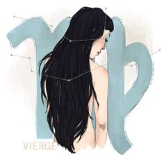 Virgo  Vierge // Zodiac Sign 8x10 Print by pauletrudelbellemare, $12.00, I want one really badly!!