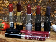 Berry Lips on a Budget - A wallet-friendly list of Berry Lip Colors to wear this Fall!