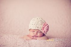 This listing is for a CUSTOM Dumpling hat in size 6-12 months  You pick the cotton yarn color and the rosette color that suit your style and I will