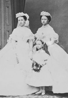 Princesses Helena, Louise, and Beatrice as bridesmaids.