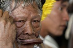 #Indian from Brazil: Raoni Txukarramae, chief of the Amazon Tribe Caiapó.