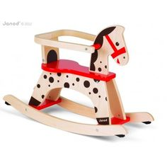 "Janod's ""Caramel"" Rocking Horse can be used with or without the safety guard, so it's suitable even for little children from 12 months.  Rubber bumpers provide stability and protect the floor surface. This is a fantastic, beautifully designed rocking horse, which will entertain little riders for hours.  NOW £89.96"