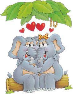 Desenhos Para Pinturas e Decoupage: Elefantes