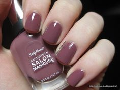 Sally Hansen Complete Salon manicure #360 Plum's the word nail polish swatch