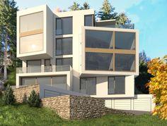 insgesamt vier maisonette und zwei attikawohnungen stehen auf dem grundst ck am waldrand in. Black Bedroom Furniture Sets. Home Design Ideas