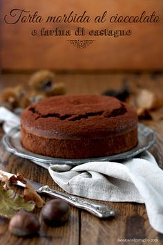 Torta morbida al cioccolato e farina di castagne Chocolate Sweets, Chocolate Recipes, Sweets Cake, Cupcake Cakes, Chestnut Recipes, Torte Cake, Cooking Cake, Frozen Desserts, Sweets Recipes
