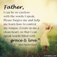 I want to speak words that are filled with love and grace...Amen