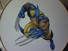 Wolverine Cross-Stitch by saber4734.deviantart.com. Woah!