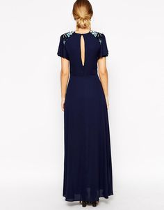 ASOS | ASOS Sleeved Embellished Maxi Dress at ASOS
