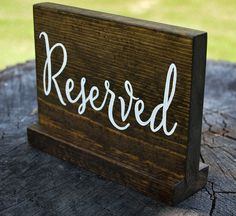 Wedding Reserved Sign wooden rustic wedding by HarleyCroStudio