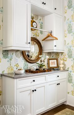 Natural Selection - AH&L Laundry Room Organization, Laundry Room Design, Laundry Rooms, Small Laundry, Anna French Wallpaper, Laundry Room Inspiration, Upstairs Bedroom, Atlanta Homes, Sweet Home