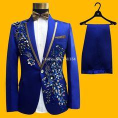 6ce77e89 Brand New Fashion Men Wedding Groom Tuxedos Suit Pink Sequins Men's  Bridegroom Blazer & Suits