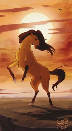 Spirit Horse Movie, Spirit The Horse, Spirit And Rain, Horse Drawings, Animal Drawings, Caballo Spirit, Spirit Drawing, Disney Horses, Horse Animation