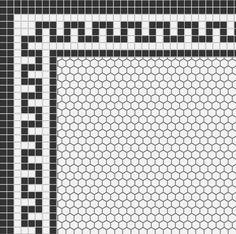 Helpful referral pertaining to Bathroom Decor Diy 1920s Bathroom, Vintage Bathrooms, Hex Tile, Mosaic Tiles, Mosaic Floors, Floor Patterns, Tile Patterns, Bathroom Floor Tiles, Tile Floor