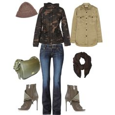 Military Chic by Deranged Diva. A fashion look from February 2015 featuring Étoile Isabel Marant tops, Hudson Jeans jeans and Casadei ankle booties. Browse and shop related looks.