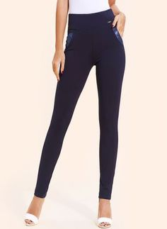 Latest fashion trends in women's Pants & Leggings. Shop online for fashionable ladies' Pants & Leggings at Floryday - your favourite high street store. Womens Fashion Online, Latest Fashion For Women, Latest Fashion Trends, Cotton Leggings, Women's Leggings, Leggings Are Not Pants, Celine, Online Shopping, Chunky Heel Pumps