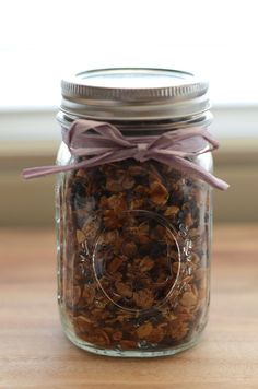 Homemade Granola....this is the basic recipe I use. Very good....just remember to add the dried fruit AFTER it's done baking.