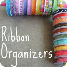 Ribbon organizers