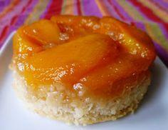 individual peach upside down cakes