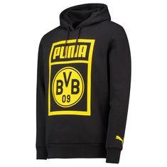 BVB Borussia Dortmund Official Shoe Tag Mens Hoodie Puma Football Black  Official Shoes c8704ea020c8