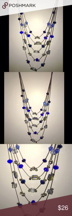 """Multicolored Jeweled Necklace Add some sparkle to your evening attire with this beautiful necklace✨ Measures 14"""" long Jewelry Necklaces"""