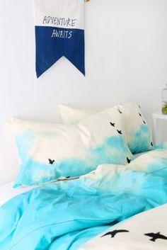 Shannon Clark For DENY Blue Skies Ahead Pillowcase - Set Of 2