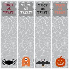 free printable halloween bookmarks - Halloween Book Marks
