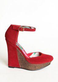 Red velvet wedges!
