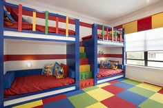 Bunk Bed for Kids Ideas - One of the main reasons why you want to have some bunk bed for kids ideas is because you want to make the room more spacious. Bunk beds are the perfect solution for your kids' bedroom who only has limited space. Modern Bunk Beds, Cool Bunk Beds, Kids Bunk Beds, Loft Beds, Modern Loft, Boys Bunk Bed Room Ideas, Bedroom Themes, Kids Bedroom, Bedrooms
