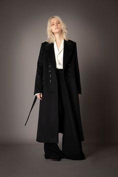 2021-22 A/W 005, Yak Wool Beaver 8B Double Breasted Chester Coat FRC-C04-104, Grampians Washable Wool Twill Tailored Baggy Shirt FRC-B04-106, Vintage Finished Double Georgette Slit Baggy Pants FRC-P03-500 Double Breasted, Duster Coat, Normcore, Chester, Pants, Jackets, Shirts, Vintage, Fashion