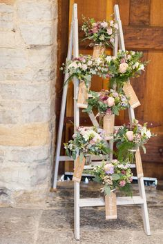 A Stephanie Allin Gown for a Beautiful, Flower Filled Wedding at Almonry Barn in Somerset Ladder Wedding, Diy Wedding, Wedding Events, Wedding Ideas, Trendy Wedding, Wedding Fair, Weddings, Wedding Flowers, Wedding Dresses