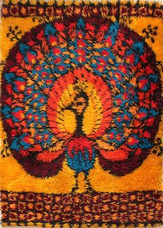 Someday I'll have a lovely Rya rug of my own. Until then, I'll just dream of one. Rya Rug, Wool Rug, Time Design, Just Dream, Rug Hooking, Colorful Rugs, Art Forms, Hand Weaving, Mosaic