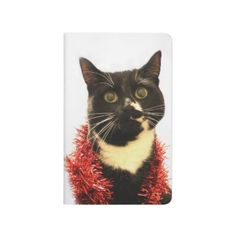 Christmas Cat Journal - black gifts unique cool diy customize personalize