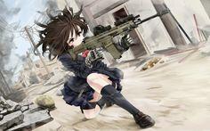 Anime Girls With Guns Wallpaper