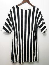 Marimekko Women's Raglan White Black Maija Isola Tunic Dress Sz 40 Medium 10/12