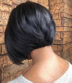 Modern Bob Hairstyles, Bob Hairstyles For Thick, Black Hairstyles, Mixed Hairstyles, Medium Hairstyles, Inverted Bob Haircuts, Short Bob Haircuts, Natural Hair Styles, Short Hair Styles