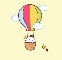 molang in hot air balloon!