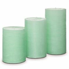 "3-Piece GloLite by PartyLite® Pillar Gardens. Includes one pillar in each size: 3""x4"", 3""x5"" and 3""x6"". Features our Bamboo Breeze fragrance, the glistening scent of dewy bamboo with a whisper of lotus flower. Each GloLite candle is individually crafted so slight variations in color and texture may occur. #partylite #candles #glolite #texturedcandles #sale"