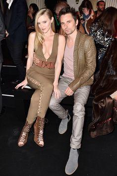 MUSE : Matt Bellamy and Elle Evans_03 March 2016 - Paris Fashion Week