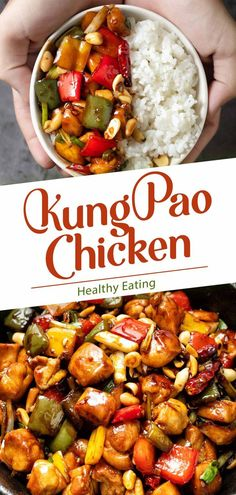 Kung Pao Chicken has long been famous for a mesmerizing harmony of sweetness and sourness. It's spicy and slightly starchy, and after being piled with vegetables and herbs, Kung Pao appears to be a tr California Pizza Kitchen, Thai Grilled Chicken, Healthy Chicken, Healthy Eating Recipes, Whole Food Recipes, Healthy Food, Asian Recipes, Ethnic Recipes, Chinese Recipes