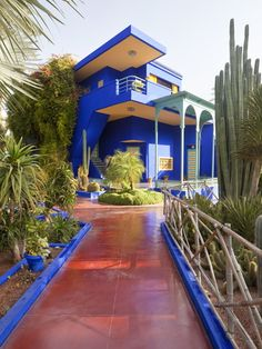 Majorelle Gardens, Marrakesh, Morocco, North Africa, Africa Photographic Print by Gavin Hellier at Art.com