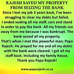 Website for Papa Rajesh, blessed to cast powerful spells and perform Traditional Healing with a number of different powerful prayers that really work fast. Bring Back Lost Lover, Job 3, Lost My Job, Lost Love Spells, Love Spell Caster, Spiritual Cleansing, Protection Spells, Power Of Prayer, Save Me