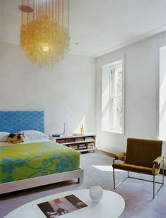 Easy modern bedroom with a hint of color.