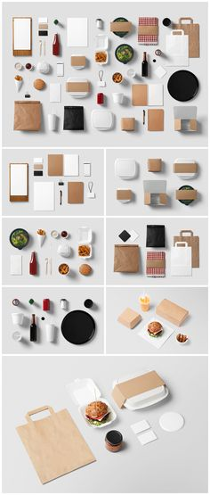 Burger Bar Stationery PSD Mock-Up / 13 PSD / 50 Items - forgraphic™