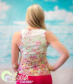Coola Cozzies women's swim top in sizes 10 to 24. Mermaid. #womensswimwear #swimwear #coveredswimwear