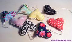 Guirnalda de corazones My Violet :D myvioletdesigns.com